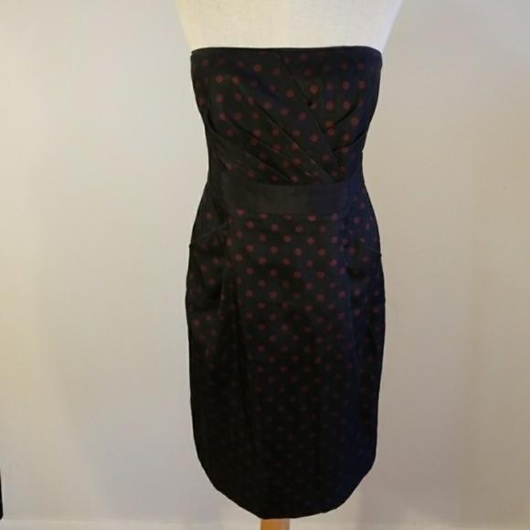 White House Black Market Dresses & Skirts - WHBM red and black polka dot dress